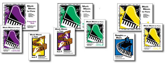 The innovative and comprehensive Music Moves for Piano series by Marilyn Lowe.